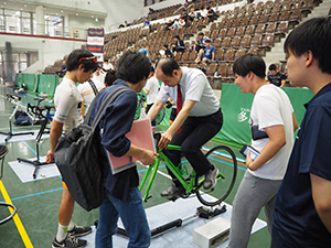 競技用自転車体験